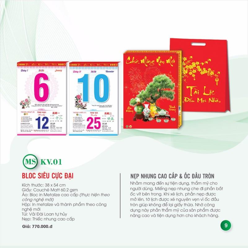 Báo giá lịch tết lịch xuân giá rẻ
