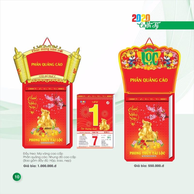 In quảng cáo lịch tết lịch xuân tại tp.hcm