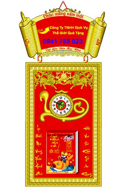 Lịch khung mạ vàng cao cấp giá rẻ tp.hcm